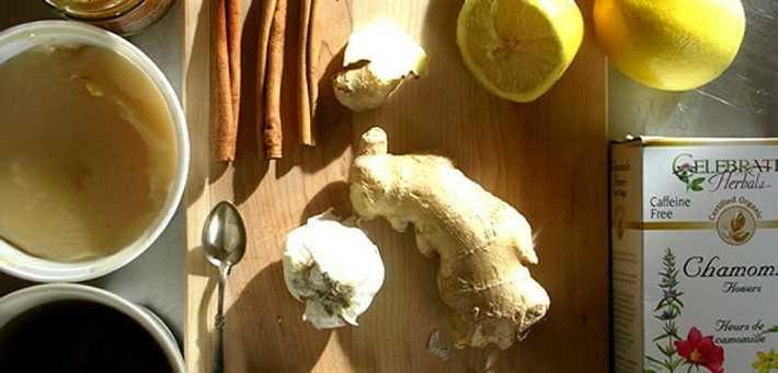 Имбирь с лимоном от головной боли