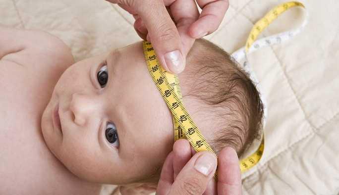 Увеличение окружности головы новорожденного