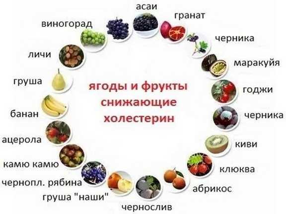 Ягоды и фрукты, снижающие холестерин