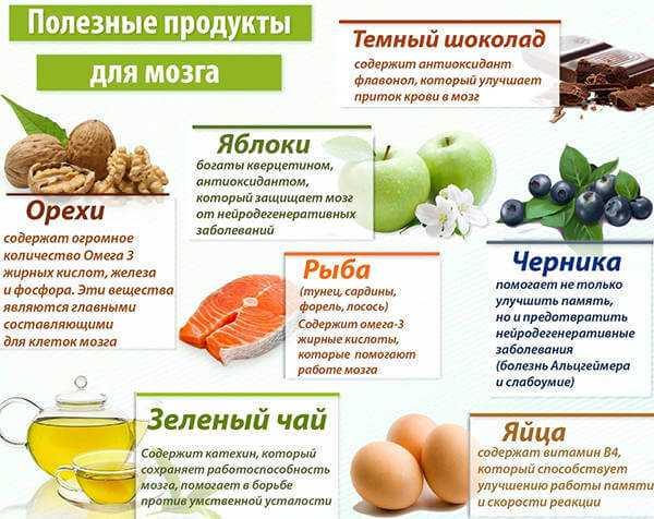 Полезные продукты для мозга