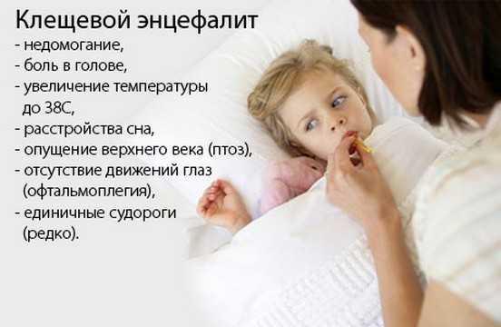 Симптомы клещевого энцефалита у детей